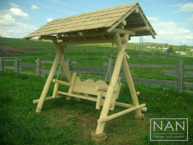 balansoar rustic lemn