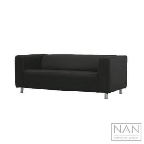 canapea neagra 2 locuri