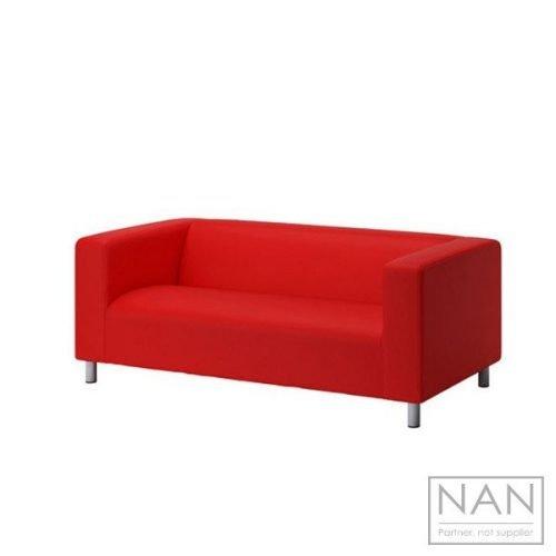 canapea rosie 2 locuri