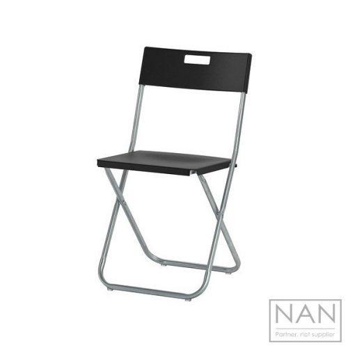 scaun pliabil negru